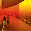 Olafur Eliasson: Yourrainbow panorama ontheroof of Museum ofModern Art in Denmark