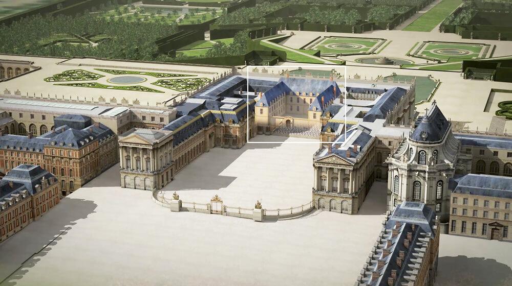 Le chateau de versailles en 3d