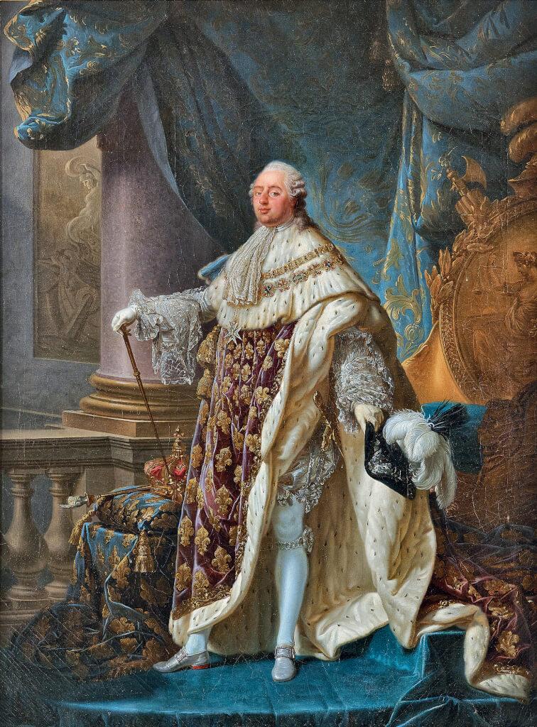 Huile sur toile d'Antoine-François Callet représentant Louis XVI en costume de sacre