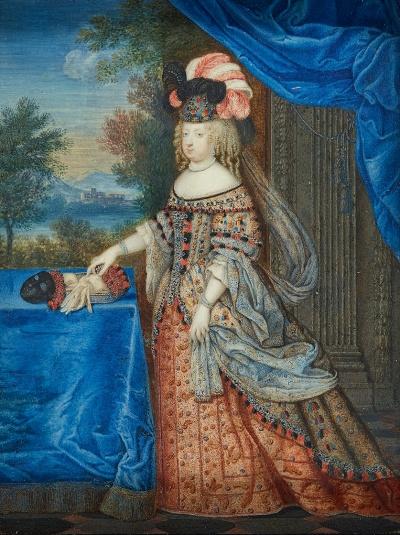 Marie-Thérèse en costume à la polonaise par Joseph Werner (1637-1710). Gouache sur vélin. © Château de Versailles / Christophe Fouin.