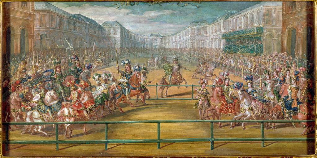 des Galantes Amazones des quatre parties du Monde, attribué à Jean-Baptiste Martin, l'Ancien (1659-1735).