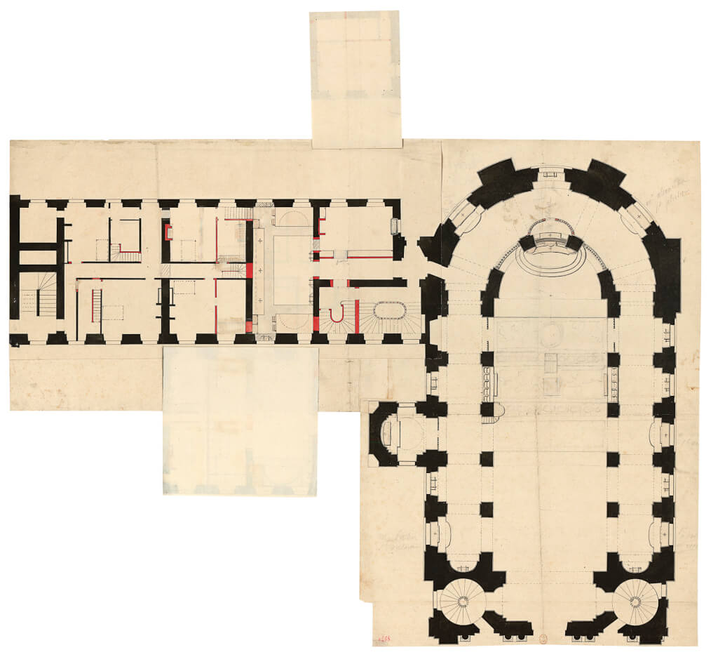 Plan de la chapelle duchâteau de Versailles