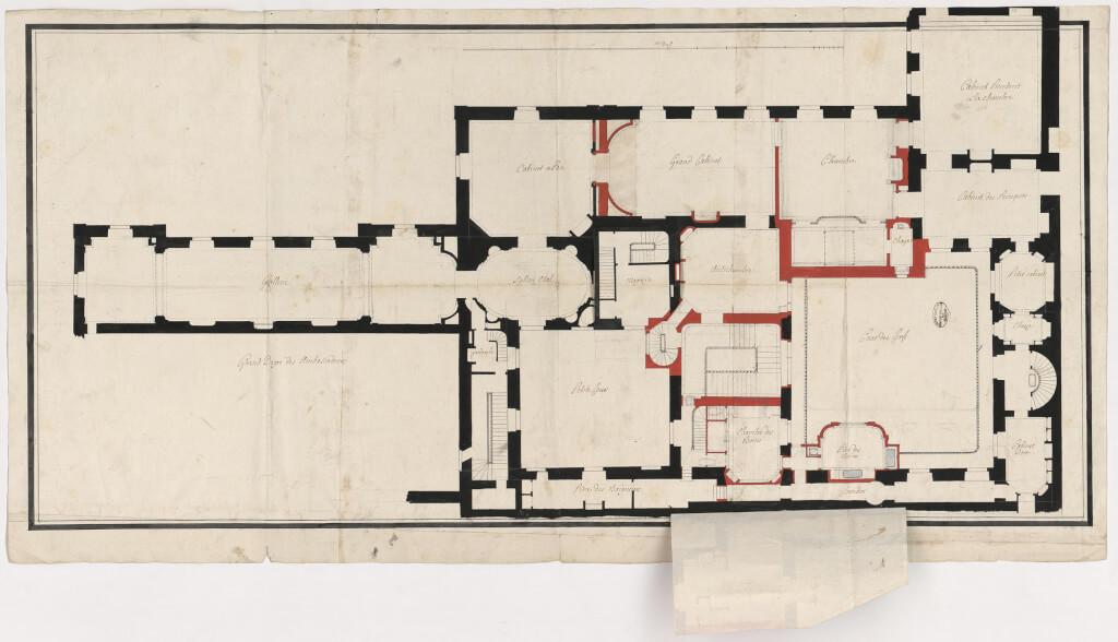 Plan légendé de l'appartement intérieur du Roi